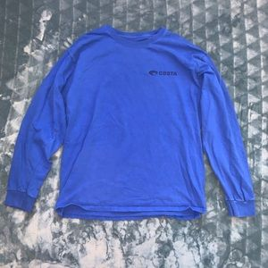 Costa Blue Long Sleeve Shirt